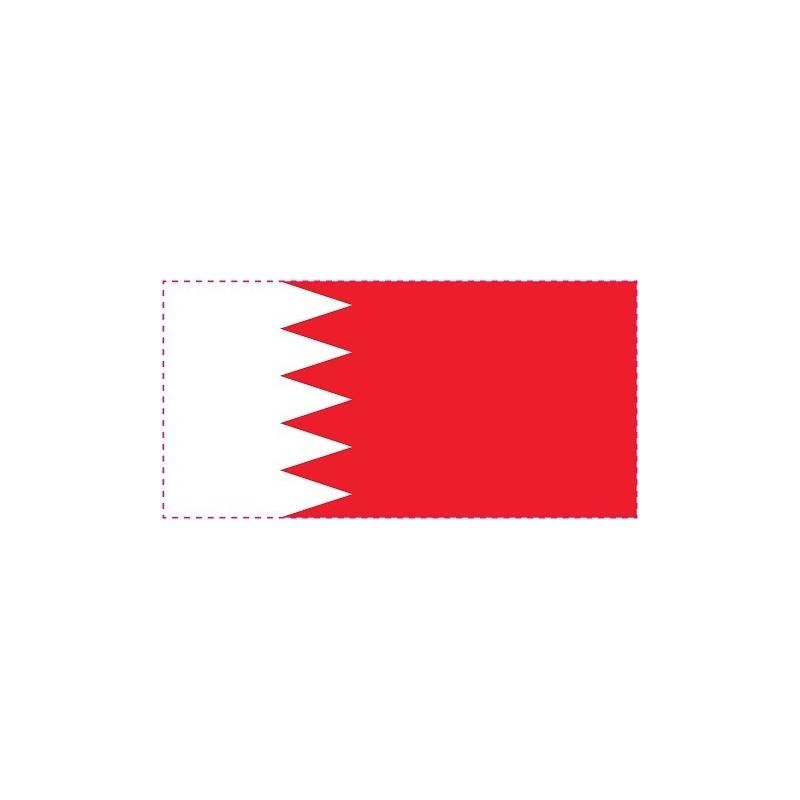 Drapeau Autocollant Bahreïn 10 cm
