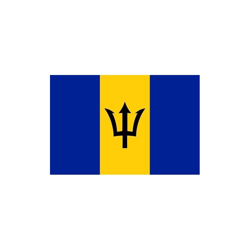 Drapeau Autocollant Barbade 10 cm