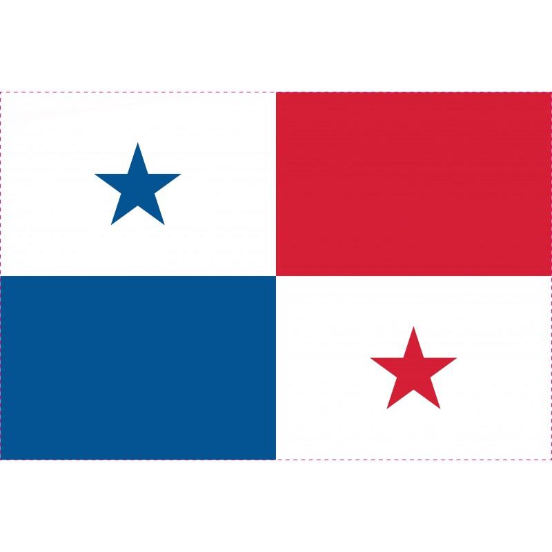 Drapeau Autocollant du Panama 10 cm