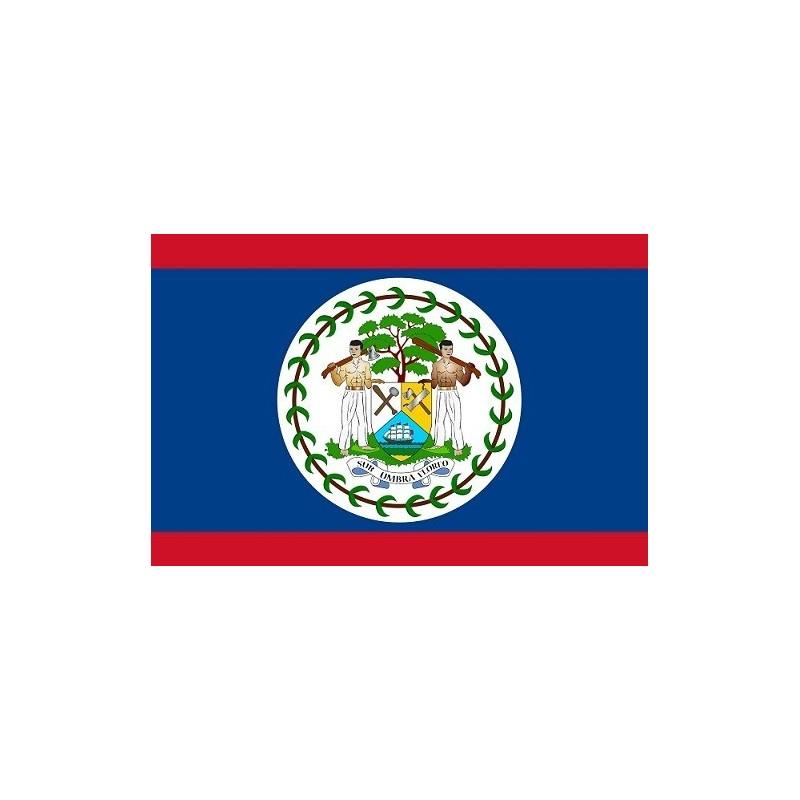 Drapeau Autocollant Belize 10 cm