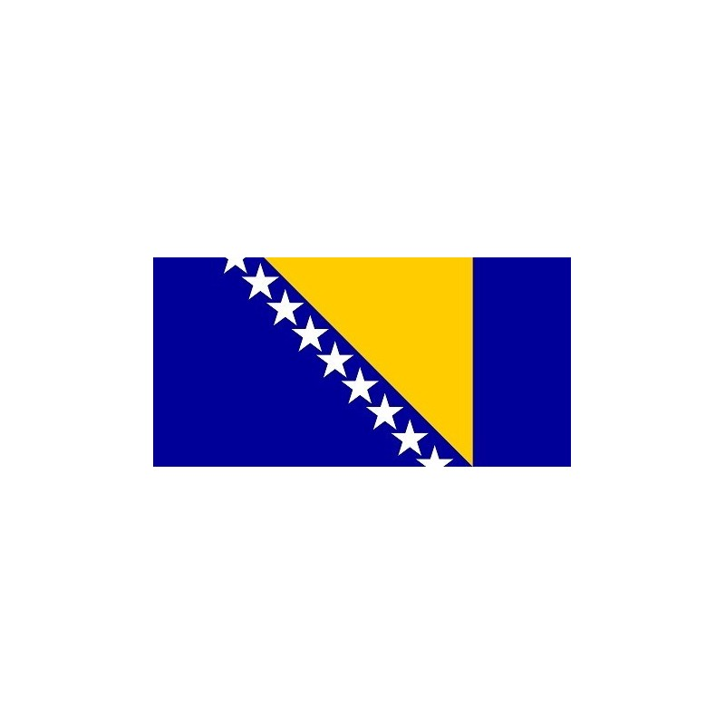 Drapeau Autocollant Bosnie et Herzégovine 10 cm