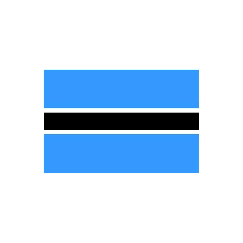 Drapeau Autocollant Botswana 10 cm
