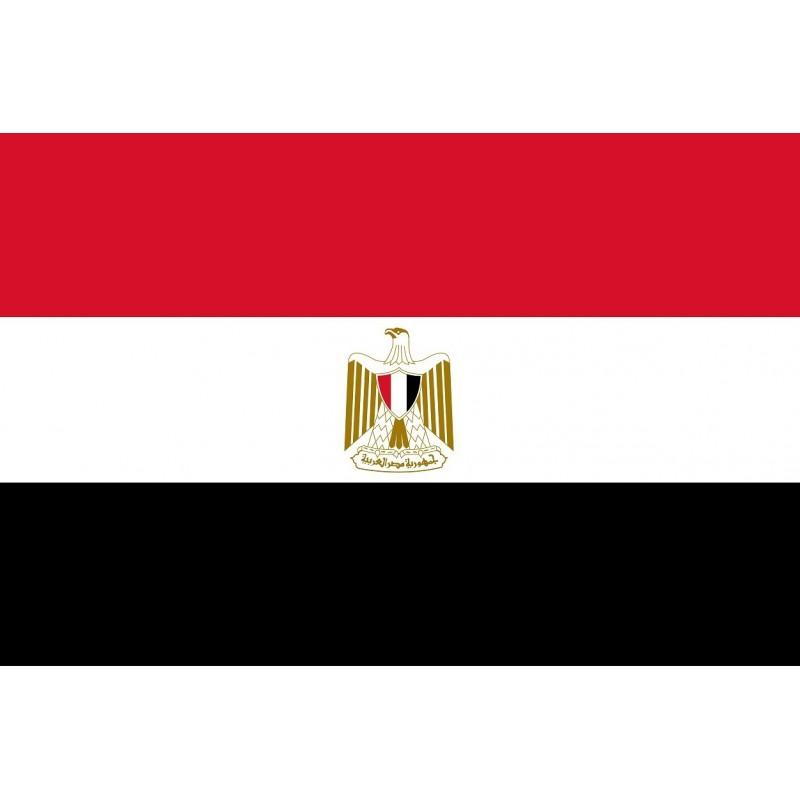 Drapeau Autocollant Egypte 10 cm