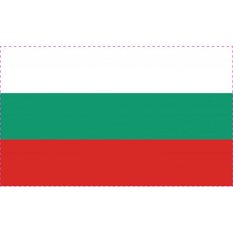 Drapeau Autocollant Bulgarie 10 cm