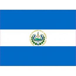 Drapeau Autocollant El Salvador 10 cm
