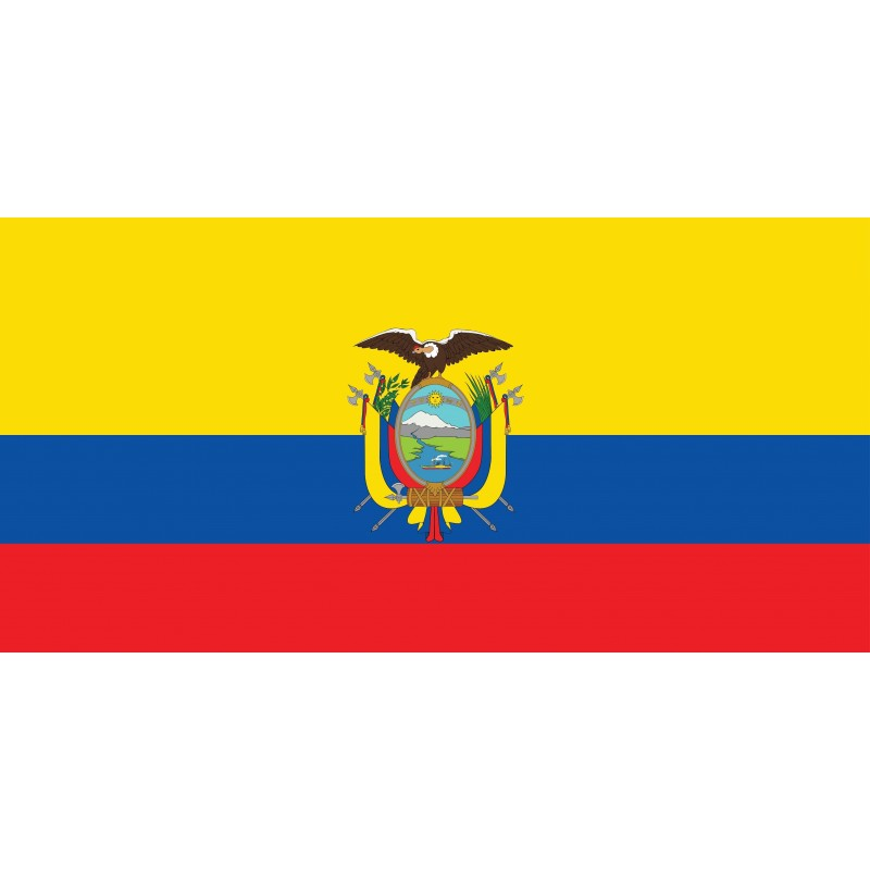 Drapeau Autocollant Equateur 10 cm