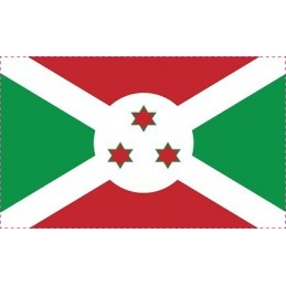 Drapeau Autocollant Burundi 10 cm