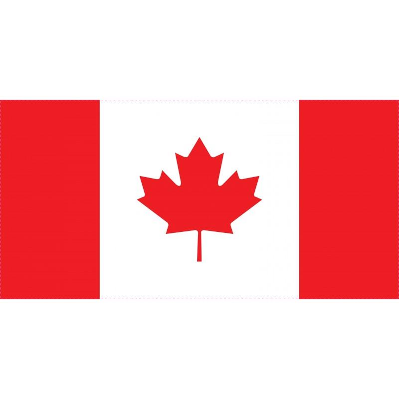 Drapeau Autocollant Canada 10 cm