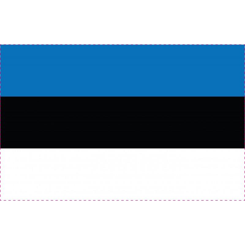 Drapeau Autocollant Estonie 10 cm