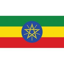 Drapeau Autocollant Ethiopie 10 cm