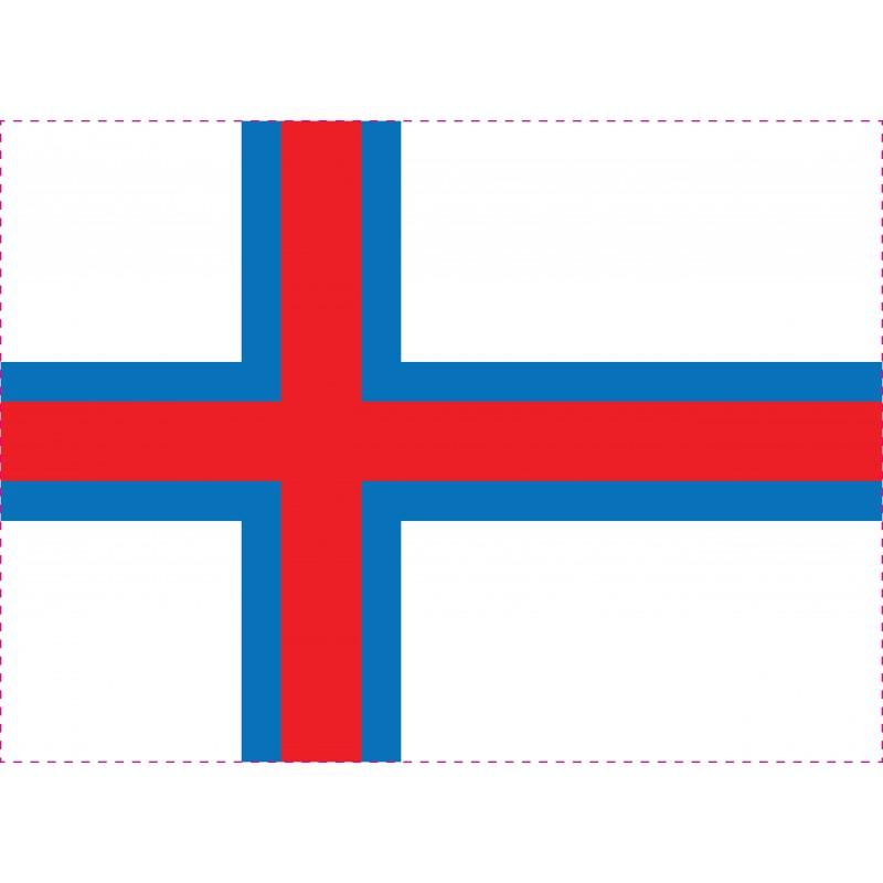 Drapeau Autocollant Faroe 10 cm
