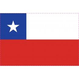 Drapeau Autocollant Chili 10 cm