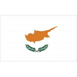 Drapeau Autocollant Chypre 10 cm