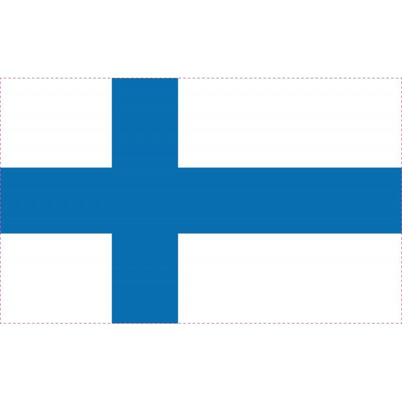 Drapeau Autocollant Finlande 10 cm