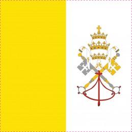 Drapeau Autocollant Cité du Vatican 10 cm