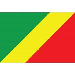 Drapeau Autocollant Congo 10 cm