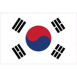 Drapeau Autocollant Corée du Sud 10 cm