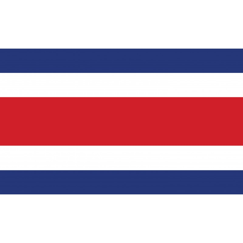 Drapeau Autocollant Costa Rica 10 cm