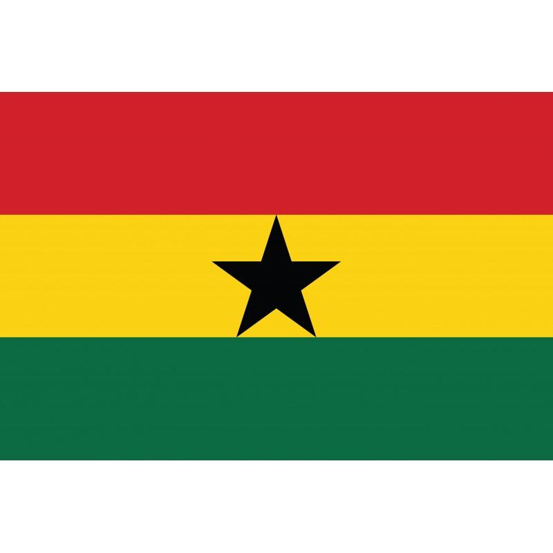 Drapeau Autocollant Ghana 10 cm