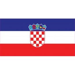 Drapeau Autocollant Croatie 10 cm