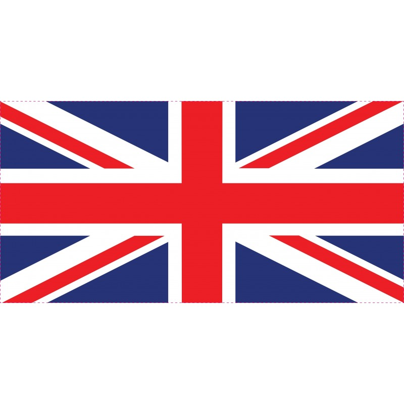 Drapeau Autocollant Grande Bretagne 10 cm