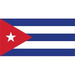 Drapeau Autocollant Cuba 10 cm