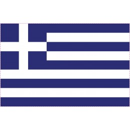 Drapeau Autocollant Grèce 10 cm