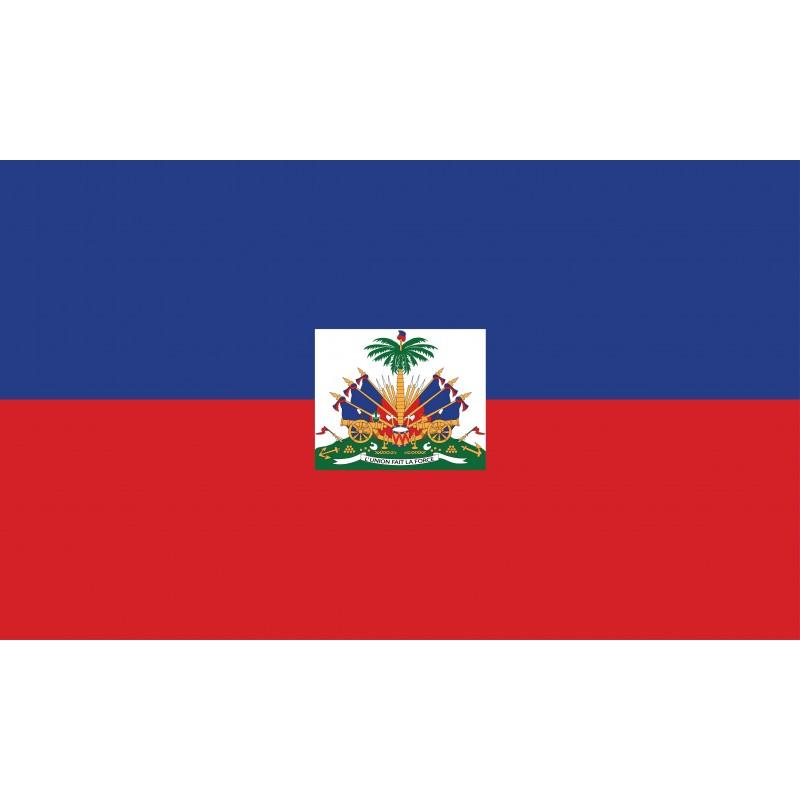 Drapeau Autocollant d'Haïti 10 cm