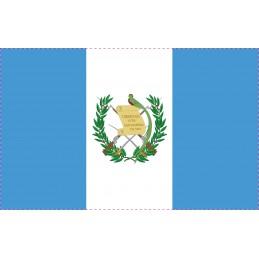 Drapeau Autocollant Guatemala 10 cm