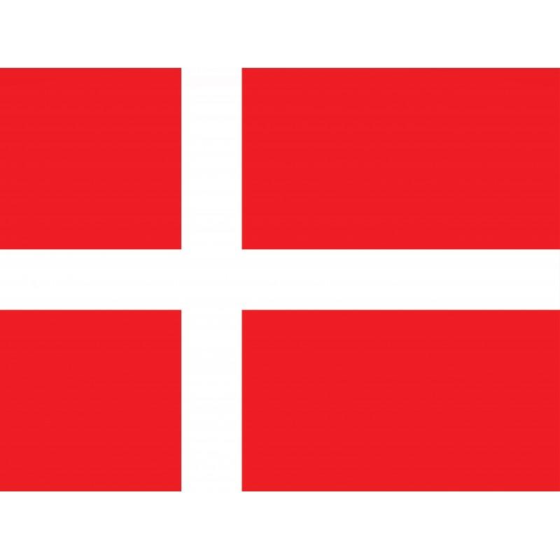 Drapeau Autocollant Danemark 10 cm