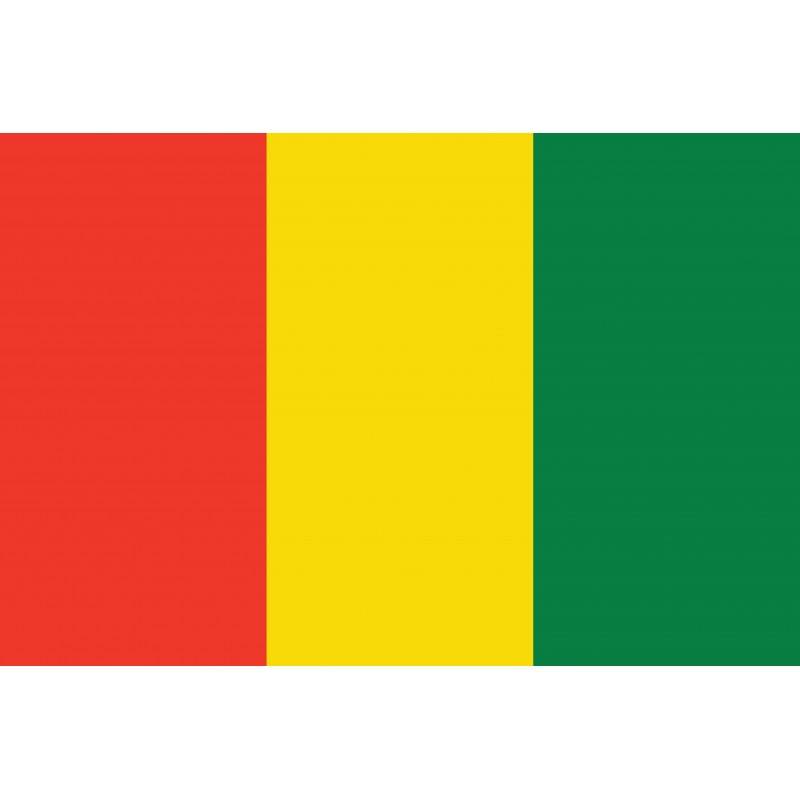 Drapeau Autocollant Guinée 10 cm