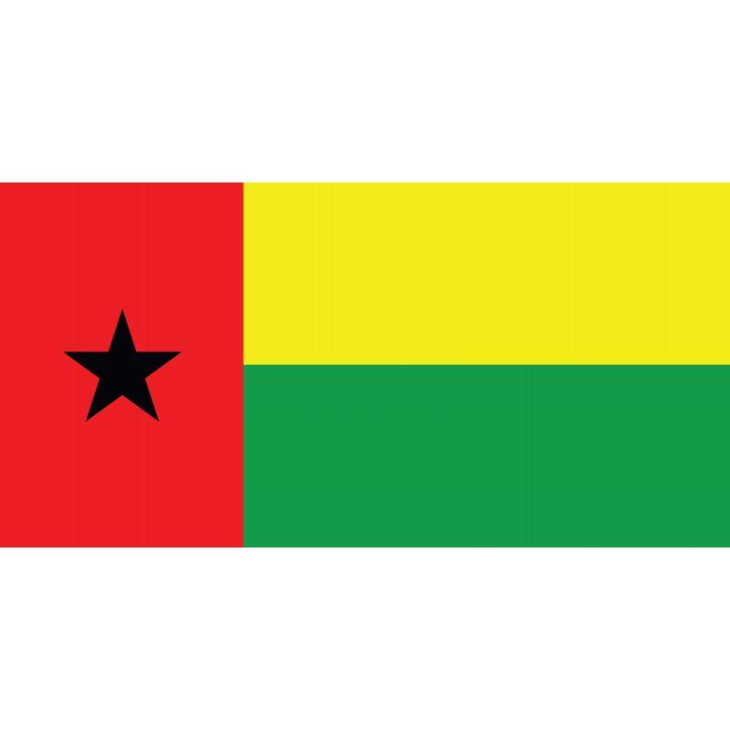 Drapeau Autocollant de la Guinée Bissau 10 cm
