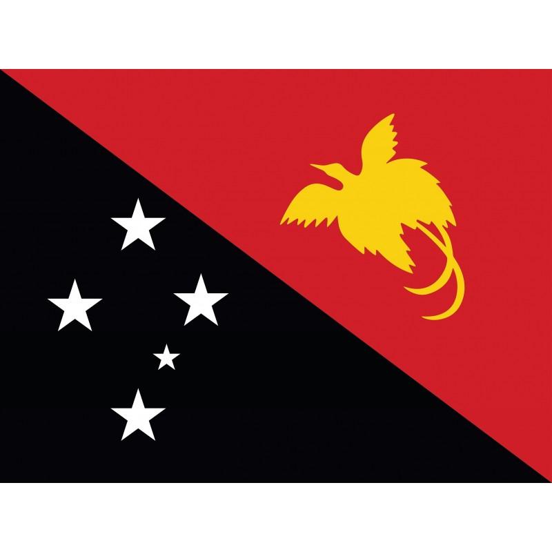 Drapeau Autocollant de la Papouasie Nouvelle Guinée 10 cm