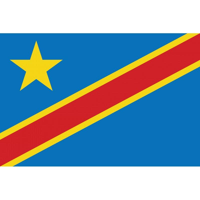 Drapeau Autocollant de la République Démocratique du Congo 10 cm