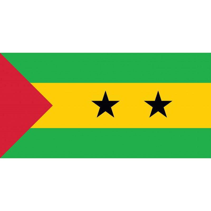 Drapeau Autocollant de Sao Tomé et Principe 10 cm