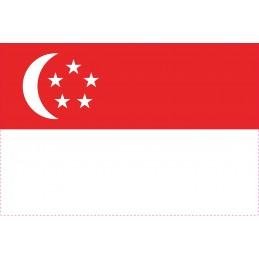 Drapeau Autocollant de Singapour 10 cm