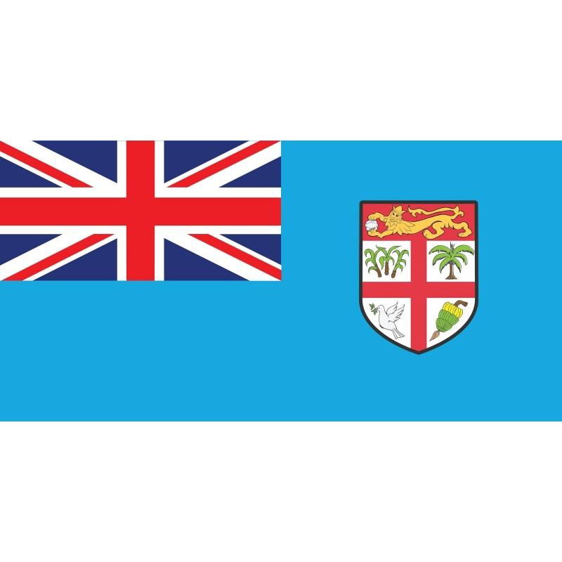 Drapeau Autocollant des Fidji 10 cm