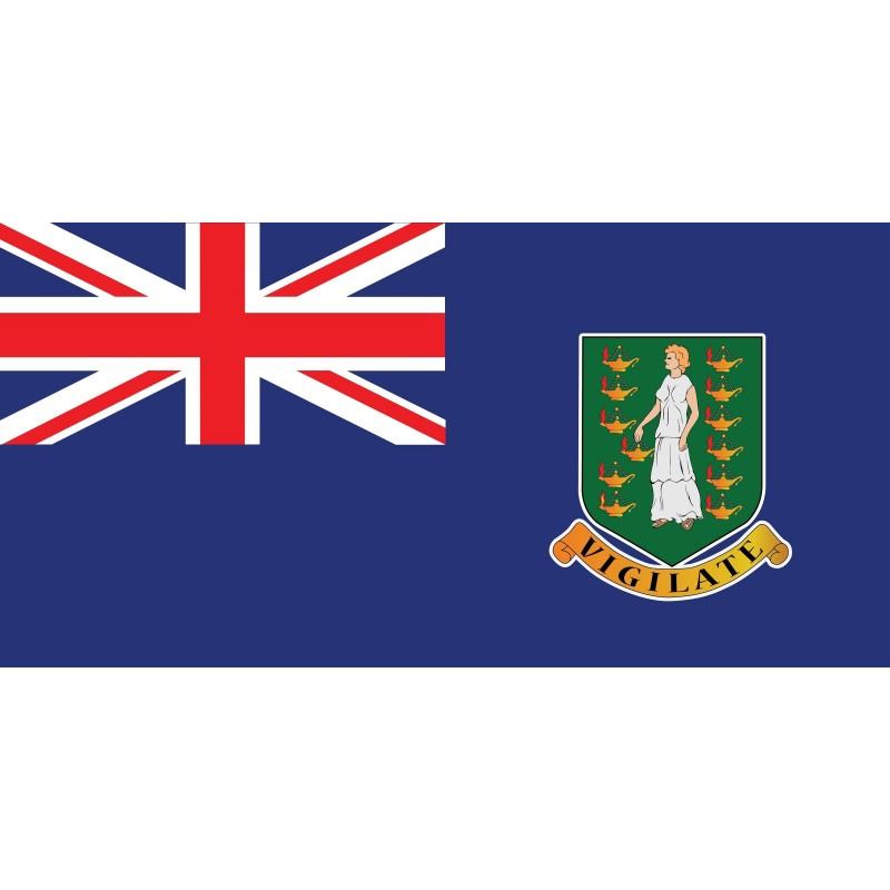 Drapeau Autocollant Des Îles Vierges Britanniques 10 cm