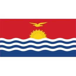 Drapeau Autocollant des Kiribati 10 cm