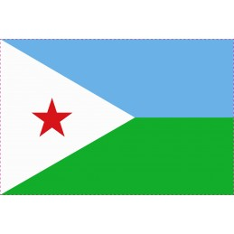 Drapeau Autocollant Djibouti 10 cm