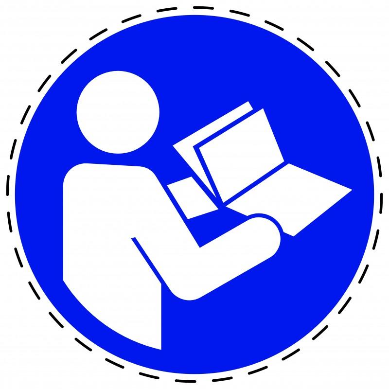 Panneau Autocollant D'Obligation - Obligation de Consulter le Manuel