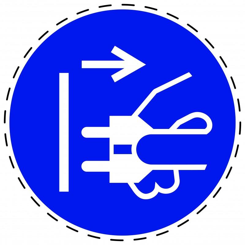 Panneau Autocollant D'Obligation - Débrancher la Prise D´Alimentation du Secteur