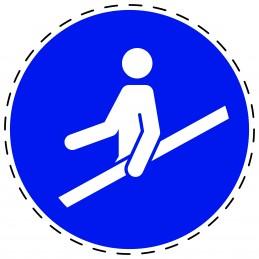Panneau Autocollant D'Obligation - Utiliser la Main Courante