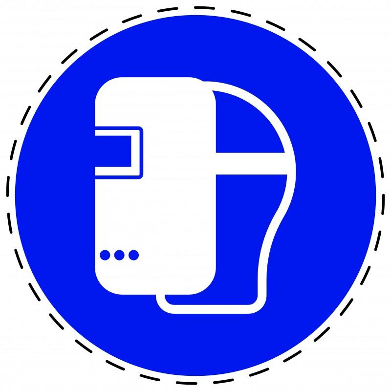 Panneau Autocollant D'Obligation - Des Voies Respiratoires Obligatoire