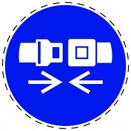 Panneau Autocollant D'Obligation - Attacher la Ceinture de Sécurité