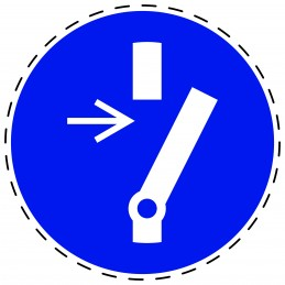 Panneau Autocollant D'Obligation - Signalétique d´obligation de débrancher