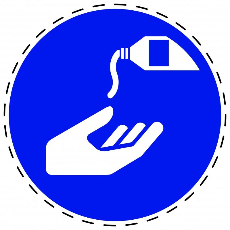 Panneau Autocollant D'Obligation - Utiliser une Crème de Protection