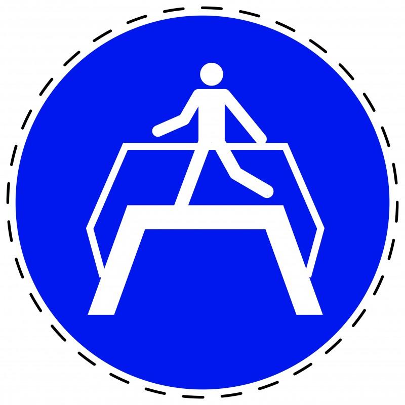 Panneau Autocollant D'Obligation - Utiliser la Passerelle