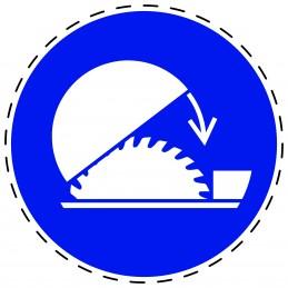 Panneau Autocollant D'Obligation - Fermeture Obligatoire de la Scie