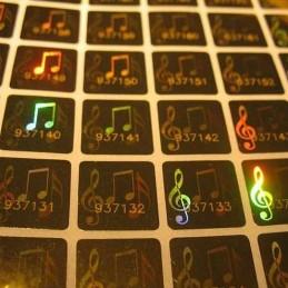 1000 Hologramme Notes de Musique Avec Numéros de Série Standard